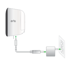 How do I charge the battery that came with my Arlo Security